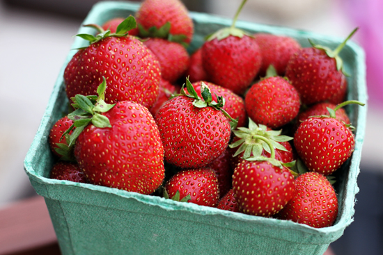 Fresh strawberries are healthy